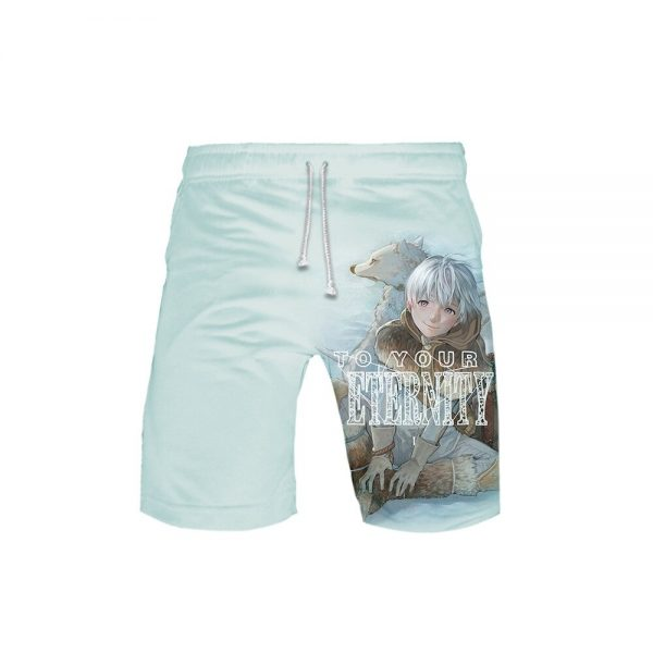2021 New Anime To Your Eternity Cosplay Shorts 3D Printing Summer Loose Casual Hot Sale Cool 4 - To Your Eternity Merch