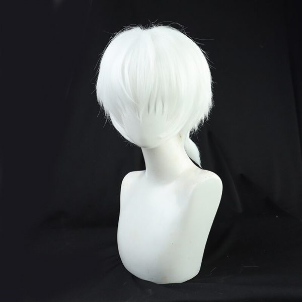 Anime To Your Eternity Fushi Cosplay Wig Short White Ponytail Wig Heat Resistant Synthetic Wigs 2 - To Your Eternity Merch