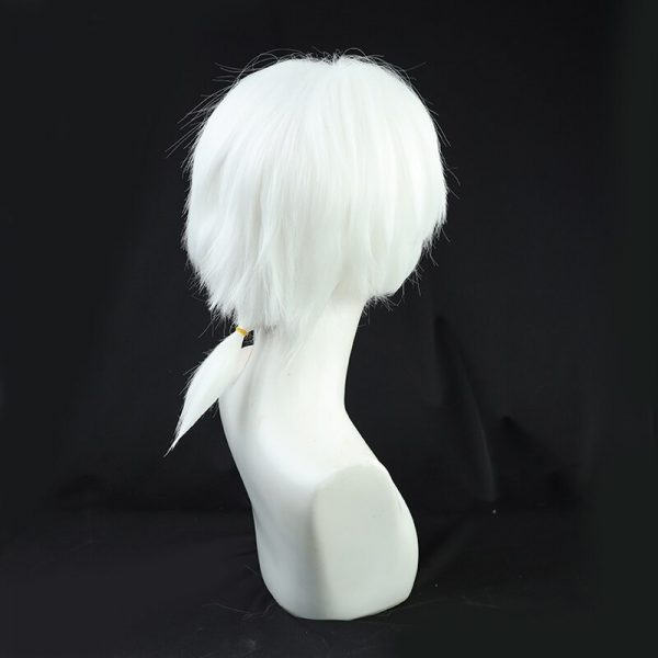 Anime To Your Eternity Fushi Cosplay Wig Short White Ponytail Wig Heat Resistant Synthetic Wigs 3 - To Your Eternity Merch