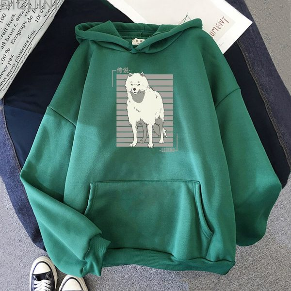 Oversized Hoodie Women Men Cartoon Dog To Your Eternity Print Cool Kawai Pullover Spring Casual Harajuku 1 - To Your Eternity Merch