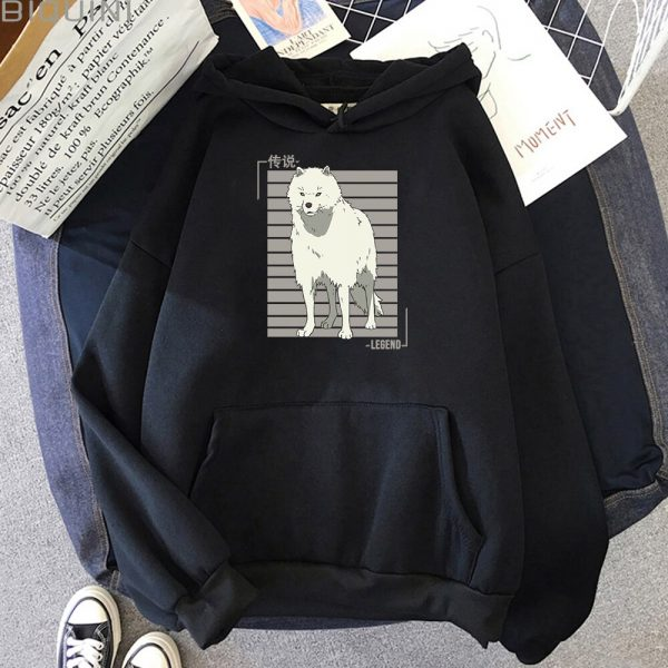 Oversized Hoodie Women Men Cartoon Dog To Your Eternity Print Cool Kawai Pullover Spring Casual Harajuku 2 - To Your Eternity Merch
