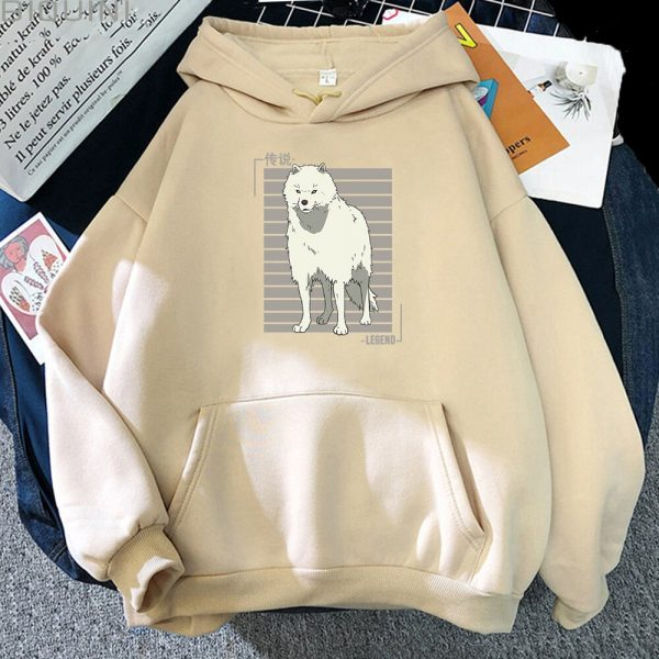 Oversized Hoodie Women Men Cartoon Dog To Your Eternity Print Cool Kawai Pullover Spring Casual Harajuku 3 - To Your Eternity Merch