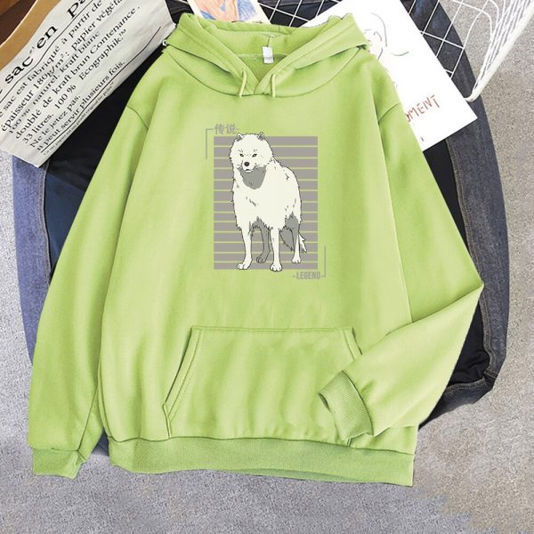 Oversized Hoodie Women Men Cartoon Dog To Your Eternity Print Cool Kawai Pullover Spring Casual Harajuku 5 - To Your Eternity Merch