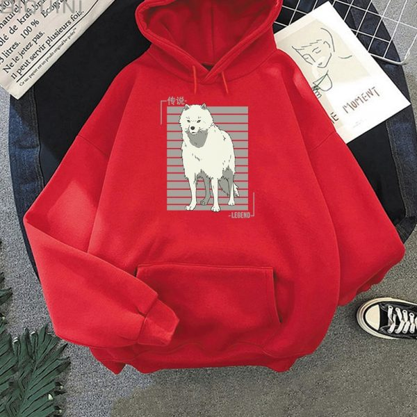 Oversized Hoodie Women Men Cartoon Dog To Your Eternity Print Cool Kawai Pullover Spring Casual Harajuku - To Your Eternity Merch
