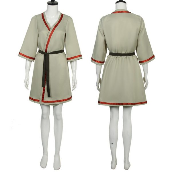 Takerlama 2021 To Your Eternity Cosplay March Costume Dress Girl Woman Robe with Black Belt Anime 1 - To Your Eternity Merch