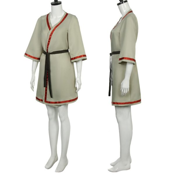Takerlama 2021 To Your Eternity Cosplay March Costume Dress Girl Woman Robe with Black Belt Anime 2 - To Your Eternity Merch