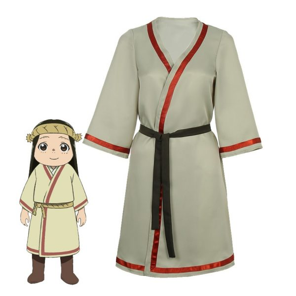 Takerlama 2021 To Your Eternity Cosplay March Costume Dress Girl Woman Robe with Black Belt Anime - To Your Eternity Merch