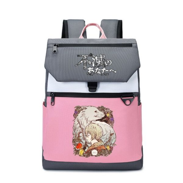 To Your Eternity Anime Travel Backpack Cartoon School Bags Large Bookbag Women Pink Laptop Bagpack Cure 27.jpg 640x640 27 - To Your Eternity Merch