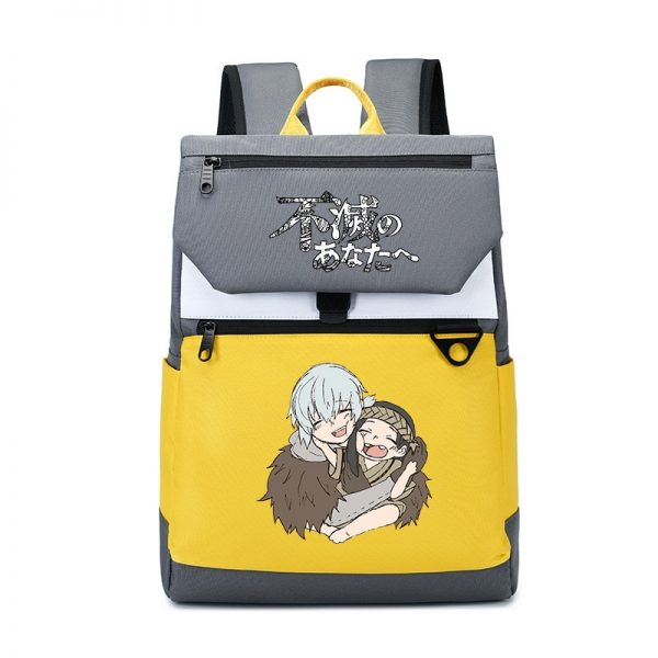 To Your Eternity Anime Travel Backpack Cartoon School Bags Large Bookbag Women Pink Laptop Bagpack Cure - To Your Eternity Merch