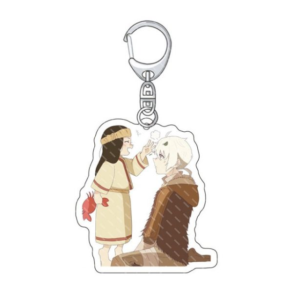 To Your Eternity Keychain Man Acrylic Anime Key Chain Women Key Holder Couples Keyring Funny - To Your Eternity Merch